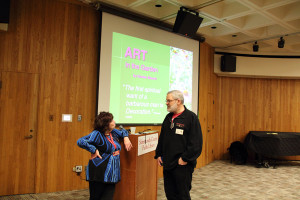 March 14, 2015 meeting at the Schenectady library.  Denise Maurer, speaker and Bill Ryan, member.